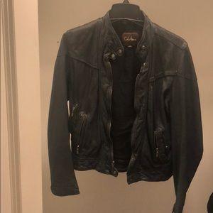 Vintage Cole Haan Leather Moto Jacket